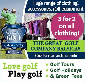 Great golf Balsicas Sponsor Banner